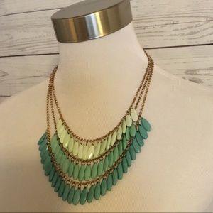 Ombré Teared Aquamarine Necklace